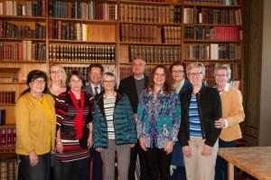 Bischof Dr. Karl-Heinz Wiesemann und das kfd-Diözesanleitungsteam im Bischofshaus